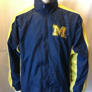 Michigan Wolverines Jacket NCAA Full Zip Mesh Line